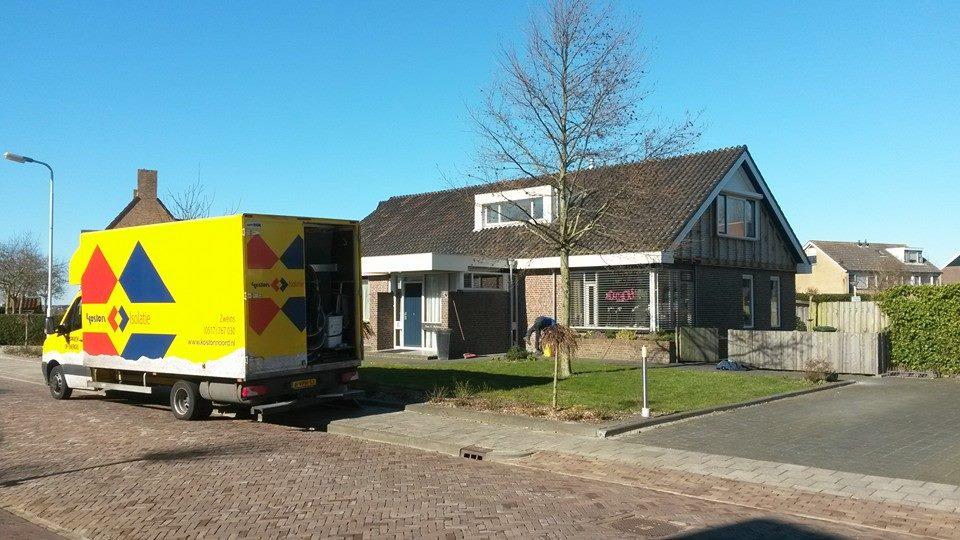 Bij-isoleren Ulbe Hiemstrastrjitte Witmarsum 11 maart2